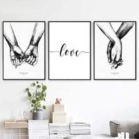 Nordique retour blanc Style doux amour citations toile affiche imprime peintures mur art photo decoration de la maison