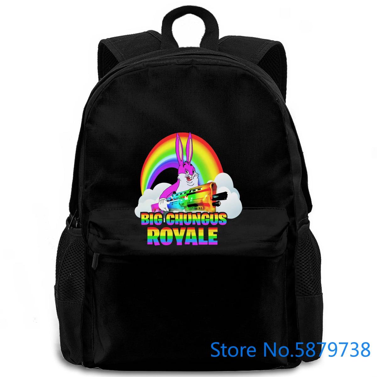 "Arco Iris ""Big Chungus Royale"" juvenil big chungus Meme Para Mujeres Hombres mochila portátil viaje escuela estudiante adulto"
