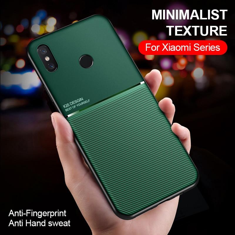 Matte anti fingerprint sweat phone case on for Xiaomi Mi 8 Lite Mi8 Se Mi8lite Mi8pro Mi8se magnetic