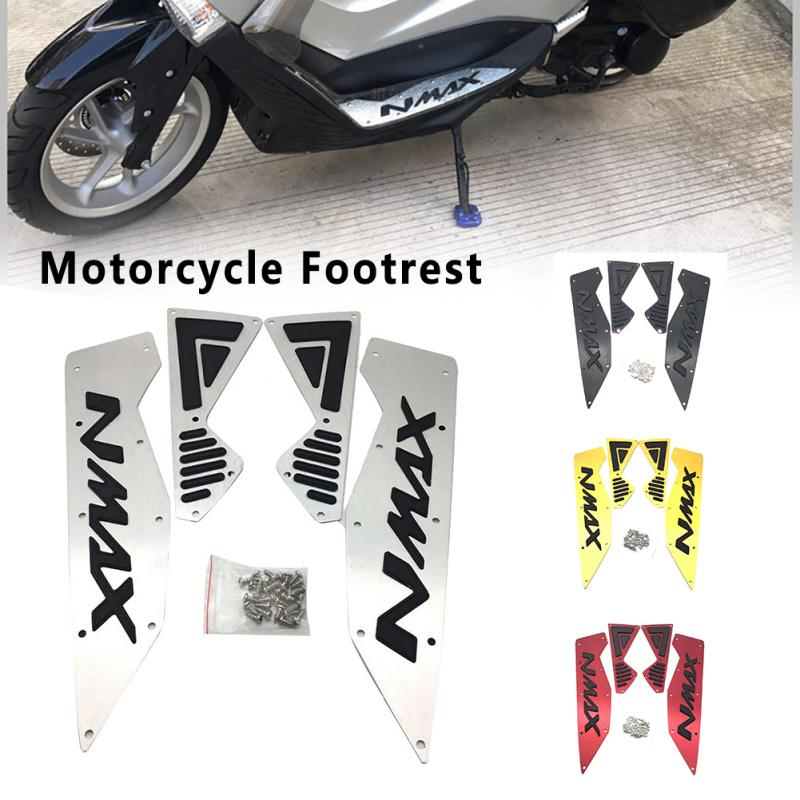 Esteras frontales, clavijas de aleación de aluminio, placa de Pedal CNC, piezas modificadas, reposapiés traseros de motocicleta, accesorios de Autobike para Yamaha Nmax 155