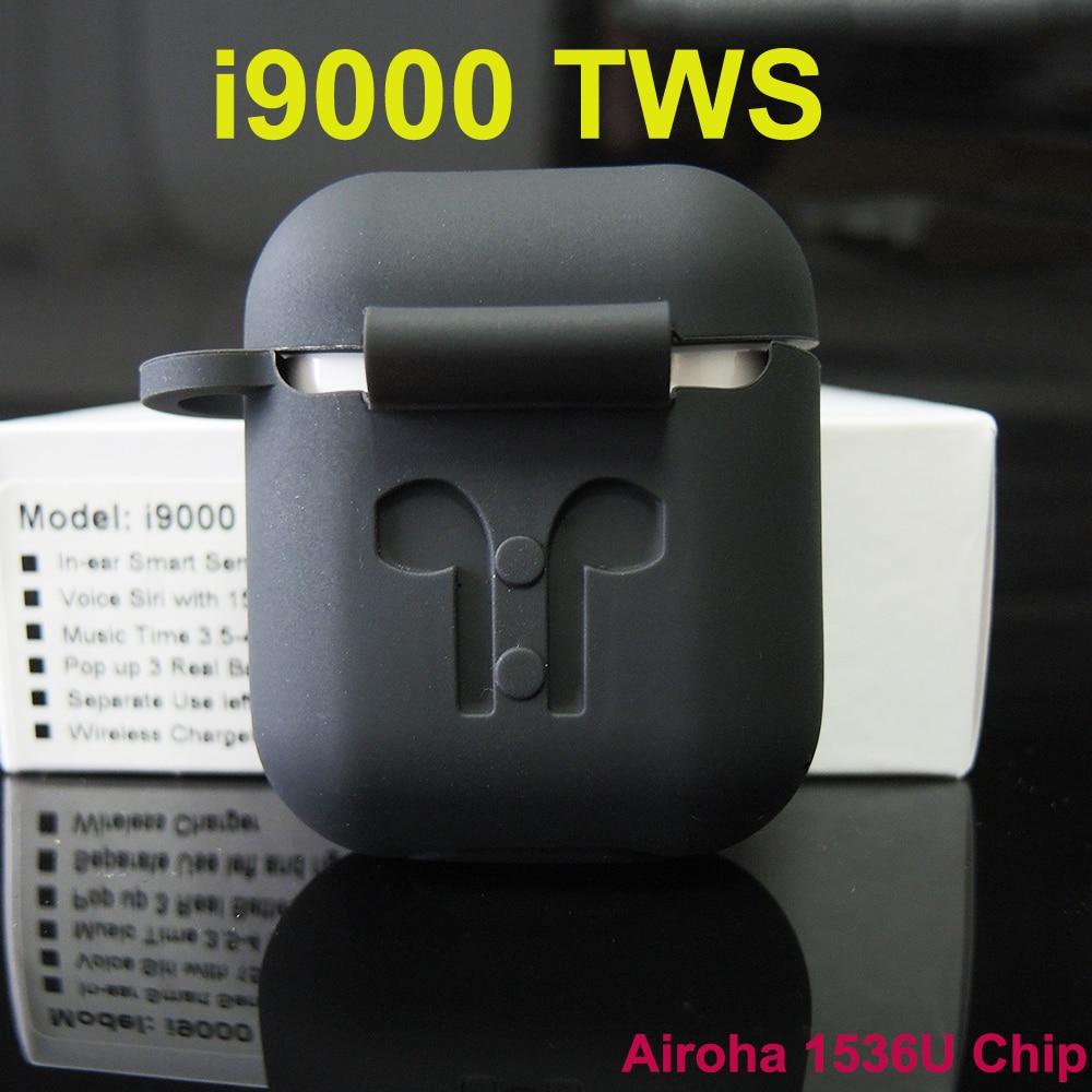 I9000 tws Pop-Up localización GPS de carga inalámbrica para IOS Bluetooth cambio de nombre auriculares pk W1 H1 Chip i200 i90000 Pro TWS