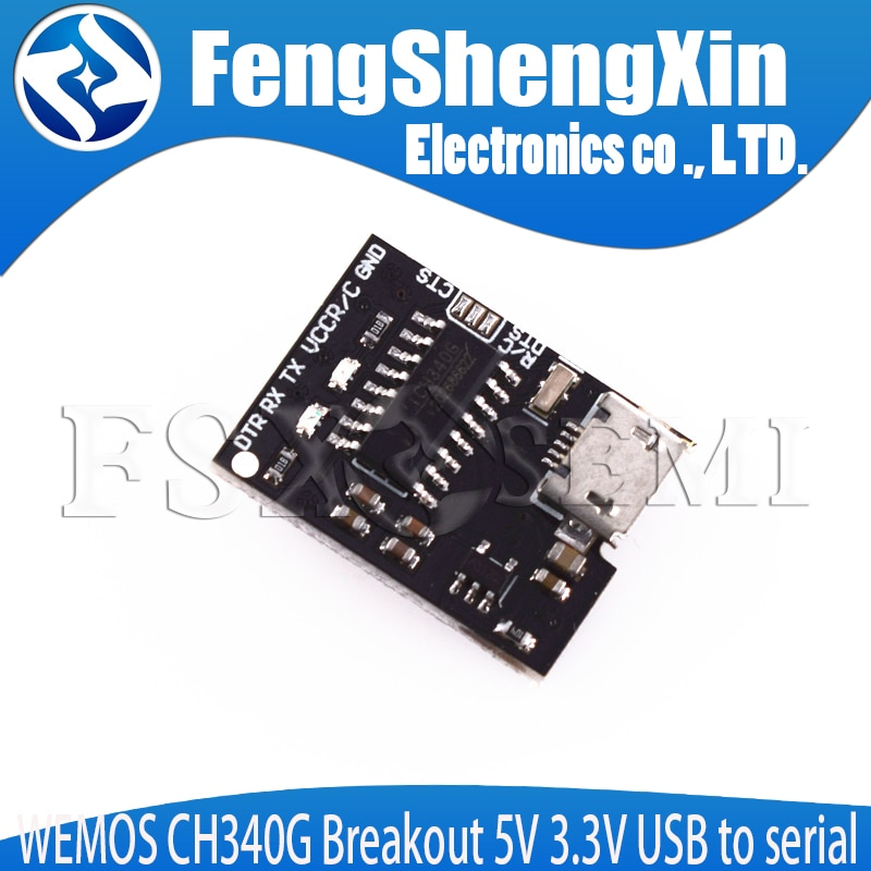 WEMOS CH340G breaout 5V 3,3 V USB a módulo serial módulo USB a TTL a puerto serie