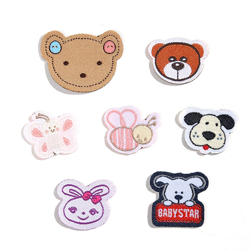 Cartoon Animal Diamond Patches for Clothing Iron Embroidered Sewing Applique Cute on Fabric Badge  Apparel Accessori DecorationG