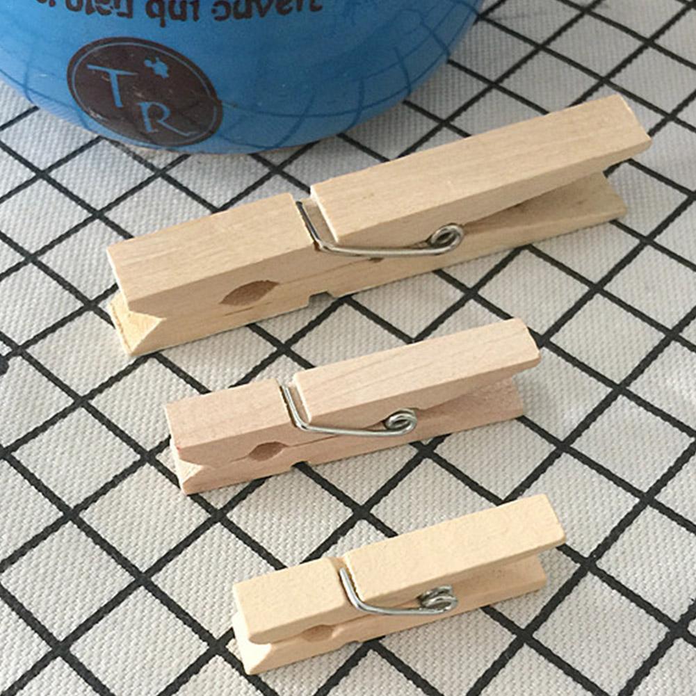 20 шт 25/35/45 мм бельевые прищепки Мини Деревянный бумага фото зажимы прищепки деревянные хомуты одежда шпильки для хранения деревянные принад...