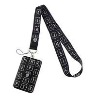 bg644 viking rune keychain lanyard badge id lanyards cell phone rope key lanyard neck straps accessories