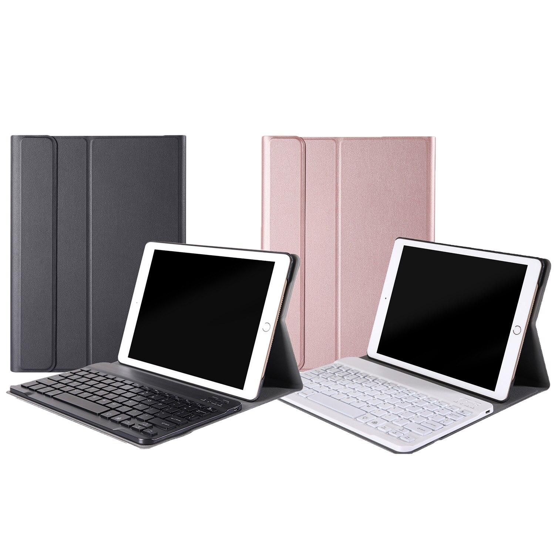 Модный съемный чехол Besegad из искусственной кожи с подсветкой и беспроводной Bluetooth клавиатурой, чехол для Apple iPad 10,2, Аксессуары для планшетов