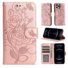 Leather Wallet Rose Flip Case For Samsung Galaxy A01 A02 A02S A10 A12 A21S A22 A31 A32 A41 A42 A50 A51 A52 A70 A71 A72 A7 2018
