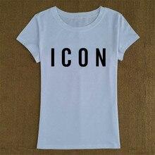 Cotton ICON T Shirt Women Summer Tops O-neck Short Sleeve Tshirt Women Fashion Casual Print Top Tee Shirt Femme Camiseta Mujer