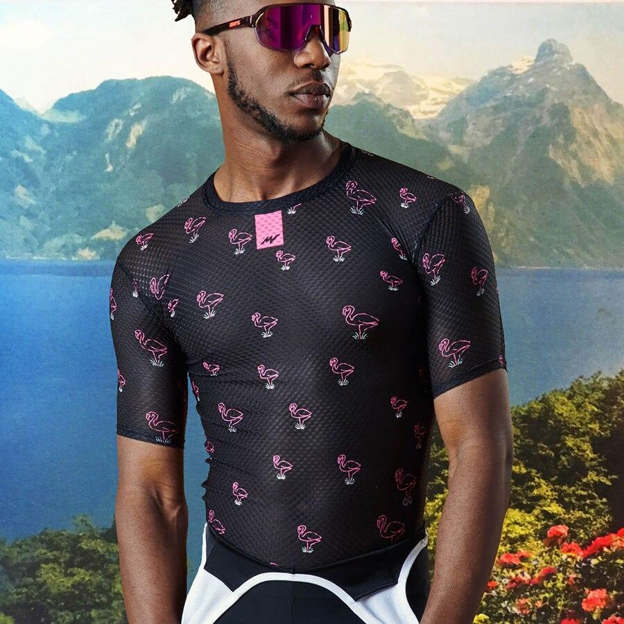 Camiseta de ciclismo profesional para hombre, camisa de tela de malla transpirable...