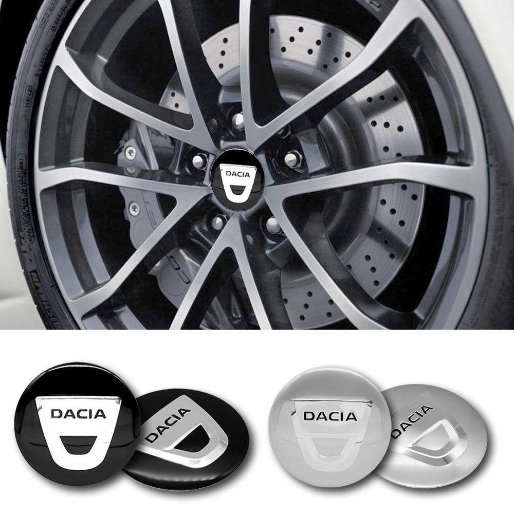4pcs 56mm DACIA Car logo Wheel Center Cap Badge Creative decoration emblem sticker for Dacia Duster Logan Sandero 2 Mcv Sandero