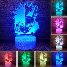 Naruto Anime Figma 3D Illusion LED Desk Nightlight Colourful Sleeping Light Flash Model Model Japan Manga action & toy figures