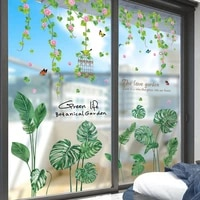 shijuehezi flower wisteria birdcage wall sticker diy plant leaves wall decals for living room kitchen home wedding decoration