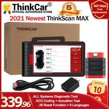 ThinkCar ThinkScan Max инструменты для автоматической полной системы, диагностический сканер 28, функция сброса, двунаправленное тестирование, кодирование ЭБУ через CRP909