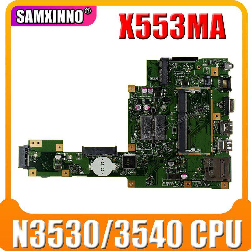 جديد X553MA اللوحة REV2.0 N3530/3540 CPU ل Asus X553MA x503m f553ma اللوحة المحمول X553MA اللوحة الرئيسية X553MA