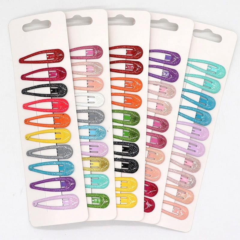 AliExpress - 10pcs 5cm Glitter Hairpins Snap Hair Clip for Children Kids Hair Clip Pins for Baby Girls Hair Accessories Cute Metal Barrettes