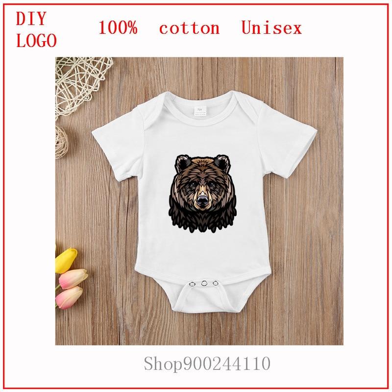 Recién nacido, niño, niña, oso, tatuaje natural tribal, bosque de animales, predator, body, Pelele de bebé, ropa de manga corta
