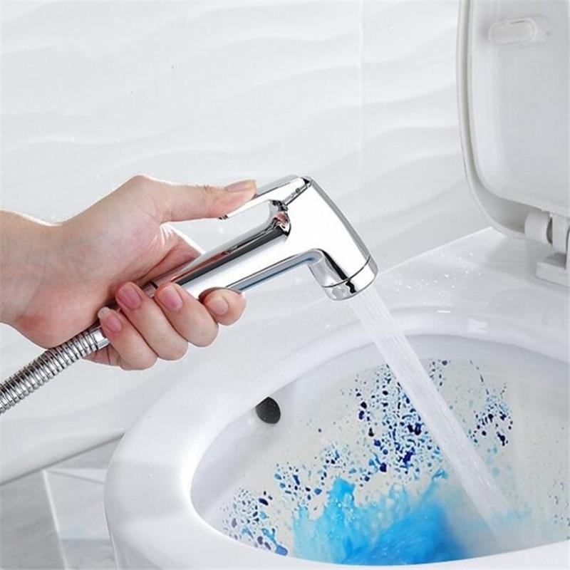 handheld toilet bidet sprayer set stainless steel hand sprayer shower head bidet faucets with shower hose for bathroom Bidet Sprayer Douche Cabine Toilet Spray Shower Head Bidet 304 Stainless Steel Hand Sprayer Shower Head Set