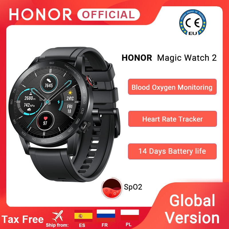 In Stock Global Version Honor Magic Watch 2 Smart Watch Bluetooth 5.1 Smartwatch Blood Oxygen 14 Day