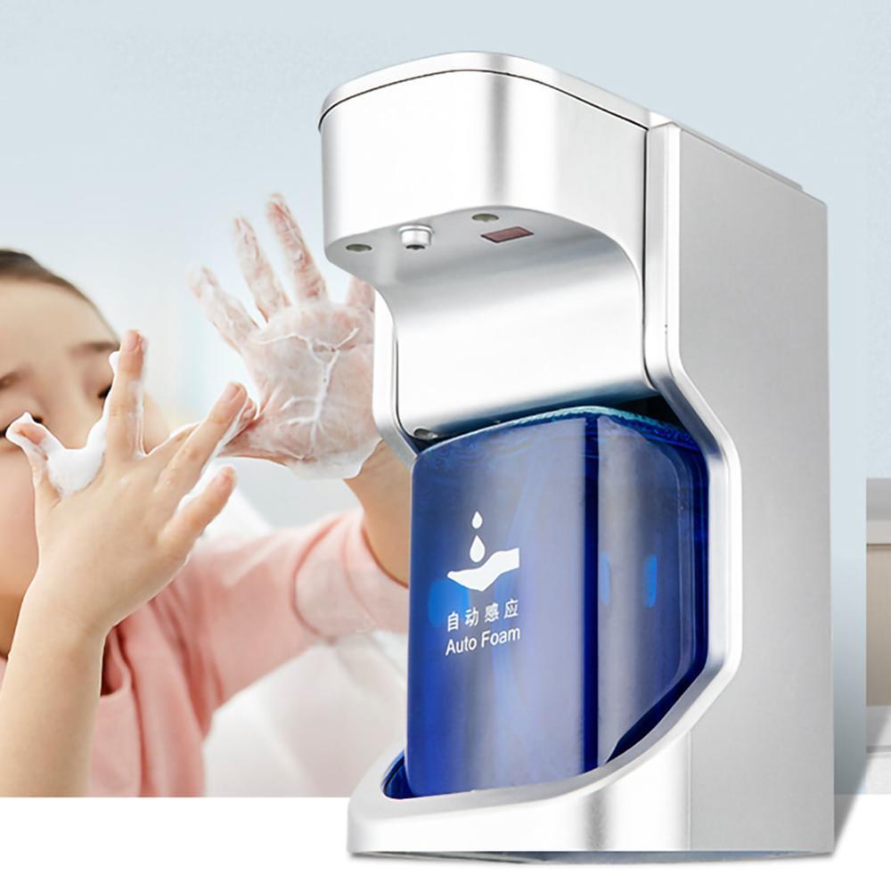 التلقائي رغوة موزع الصابون Touchless موزع الصابون مع مستشعر حركة بالأشعة تحت الحمراء 14/400 مللي التحكم في مستوى الصوت مضخة صابون التسليم