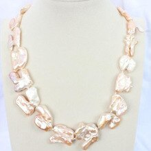 Énorme 1830MM naturel mer du sud véritable or rose lavande collier de perles 925 argent