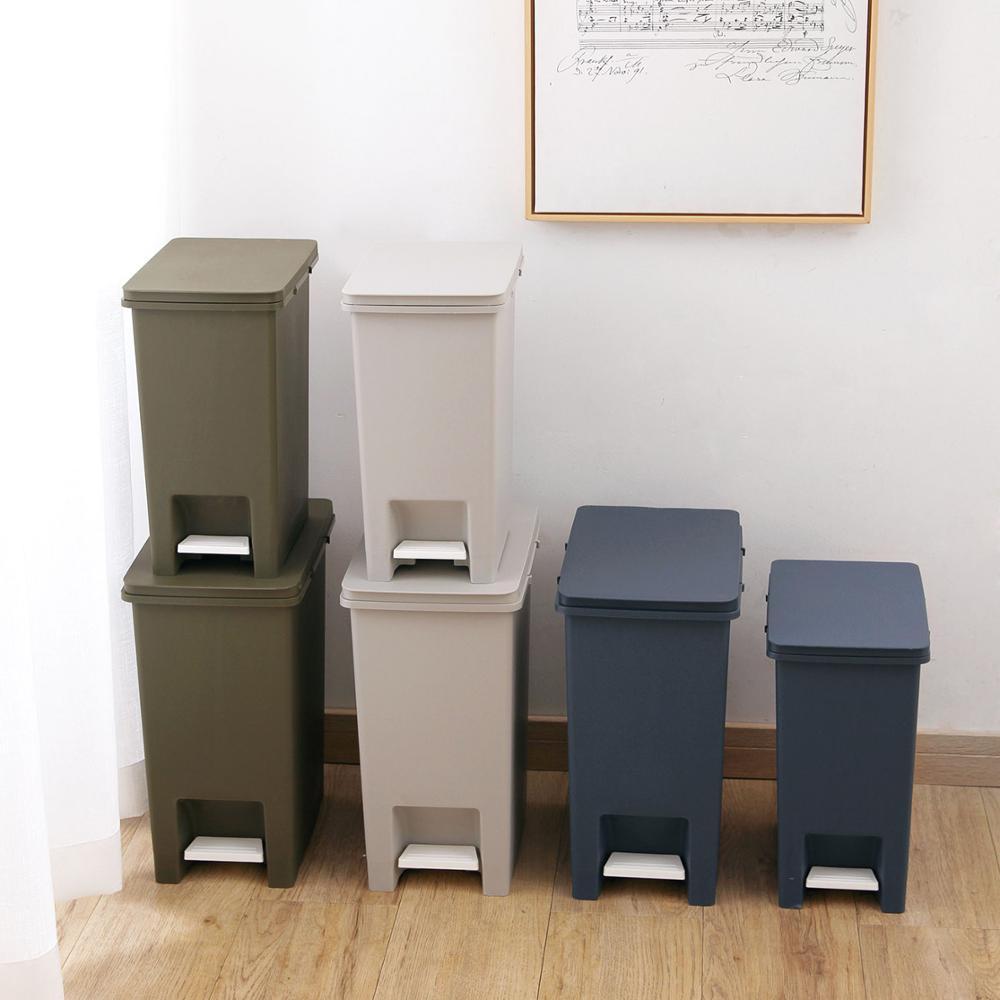 10/15L Creative Trash Can Foot Pedal Type Trash Bin Kitchen Living Room Garbage Cans Storage Bin Plastic Dustbin Buckets enlarge