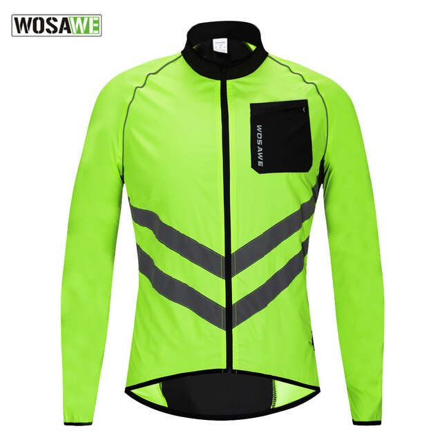 High visibility Cycling Men's Windbreaker Waterproof Light Weight Safety Cycling motorcycle Jacket Raincoat Mountain Bike Clothi enlarge