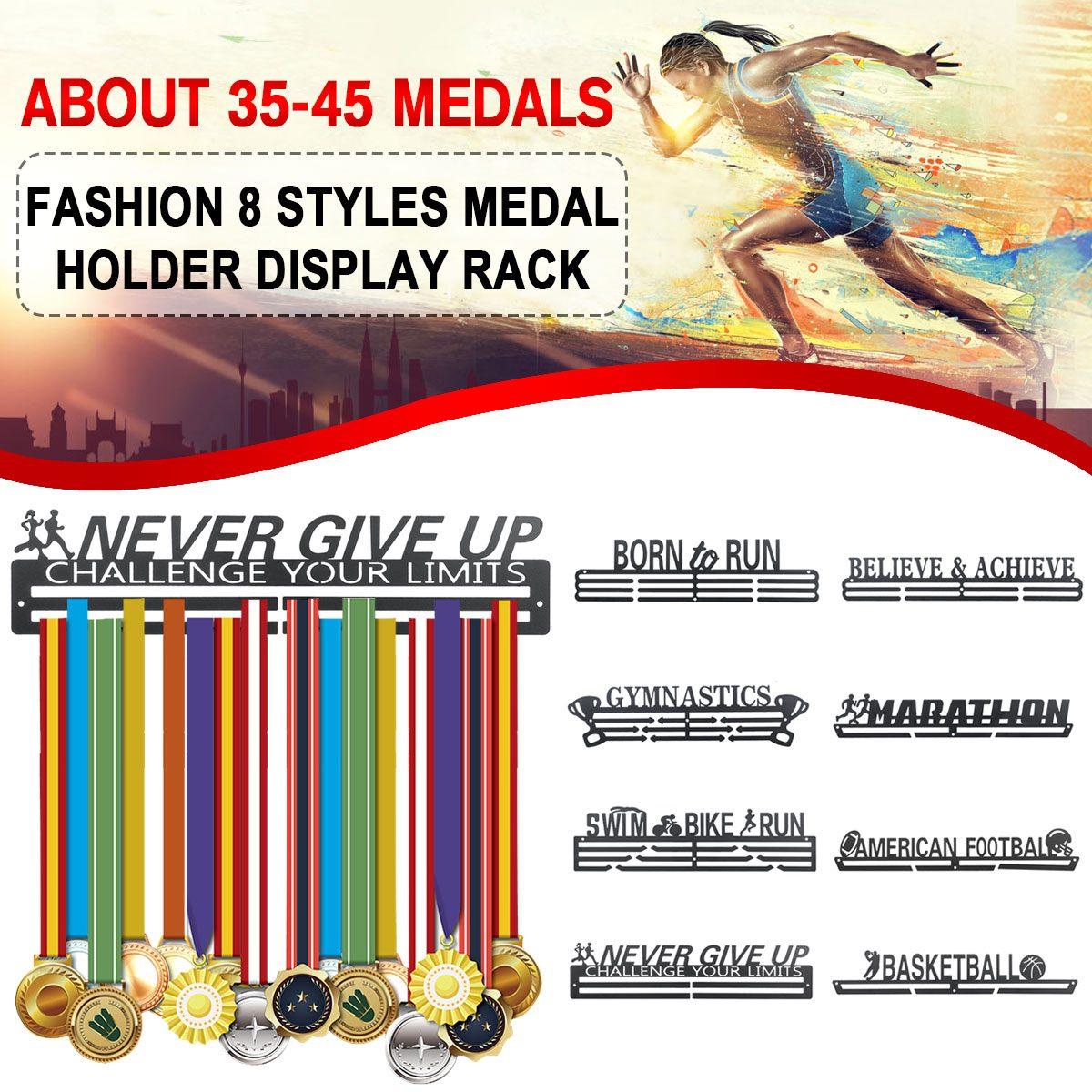 Вдохновляющая металлическая вешалка для медалей, держатель для спортивных медалей, стойка для демонстрации, 36 медалей