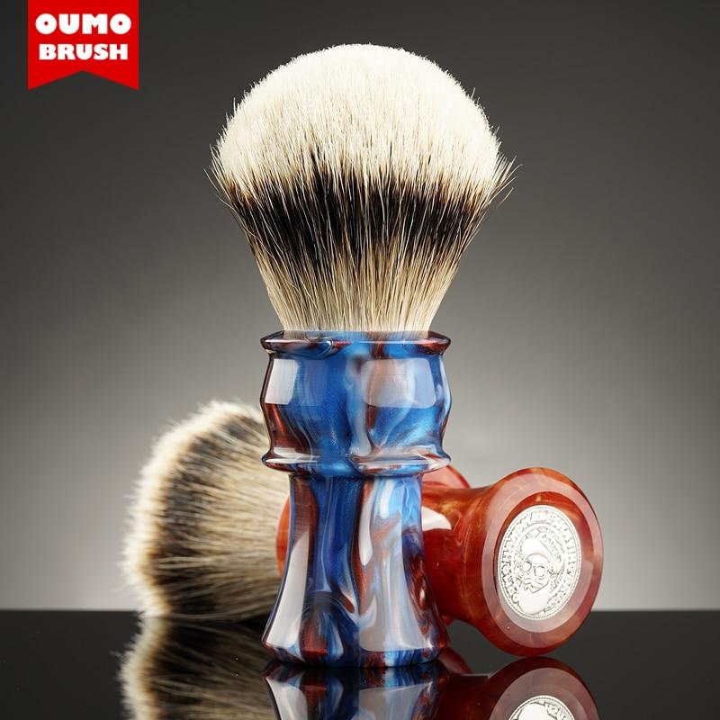 OUMO BRUSH - OUMO classic big hand kaleidoscope shaving brush with Manchuria/ACE/SILK/HOOK/WT