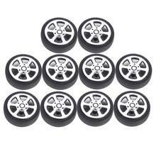 10Pcs Rubber RC  Car Racing Car Tyre DIY Car Model Parts Accessories