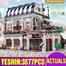 15010 ville Streetview bâtiment Compatible avec 10243 MOC romantique parisien Restaurant ensemble blocs de construction enfants jouets de noël