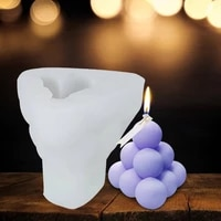 geometry candle silicone mold aromatherapy wax mould diy 3d soap craft party gift home decoration
