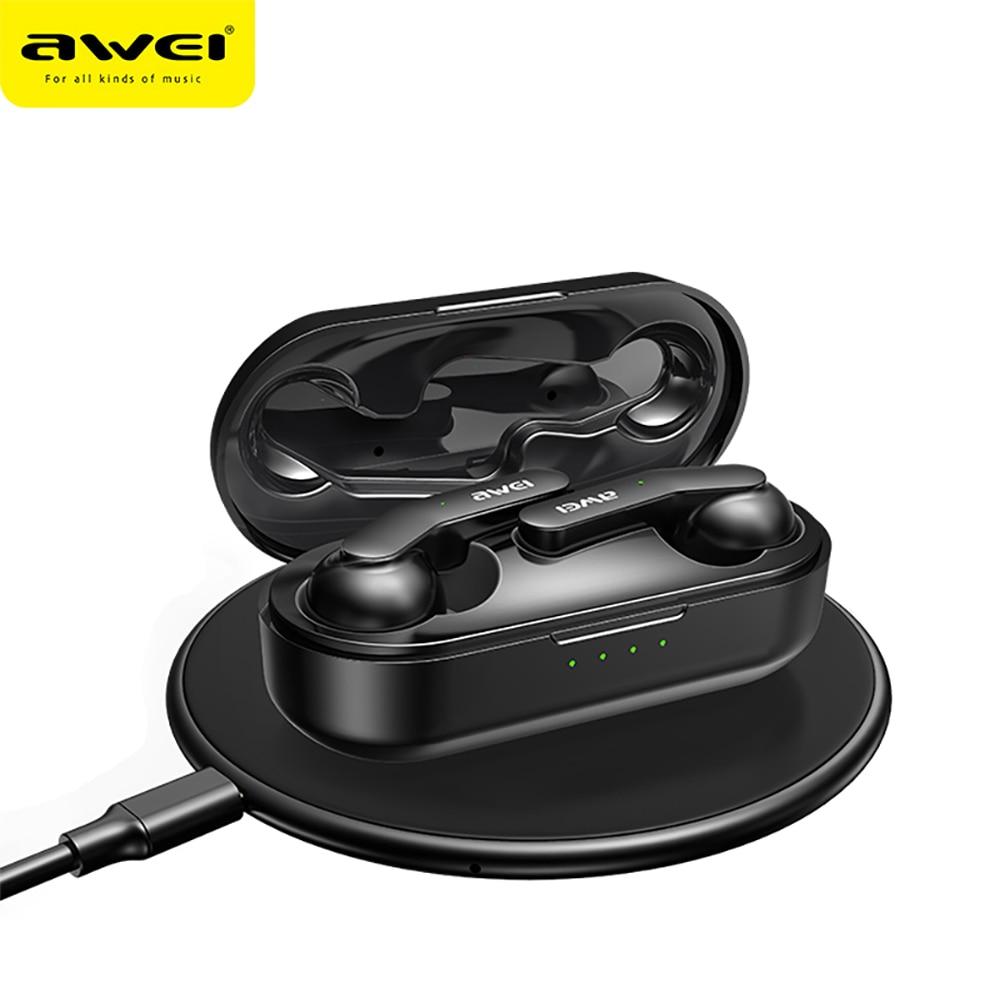 Awei T10 Wireless headphones TWS Bluetooth 5.0 Earphone HiFi Headphones Music Headset Touch Sensor E