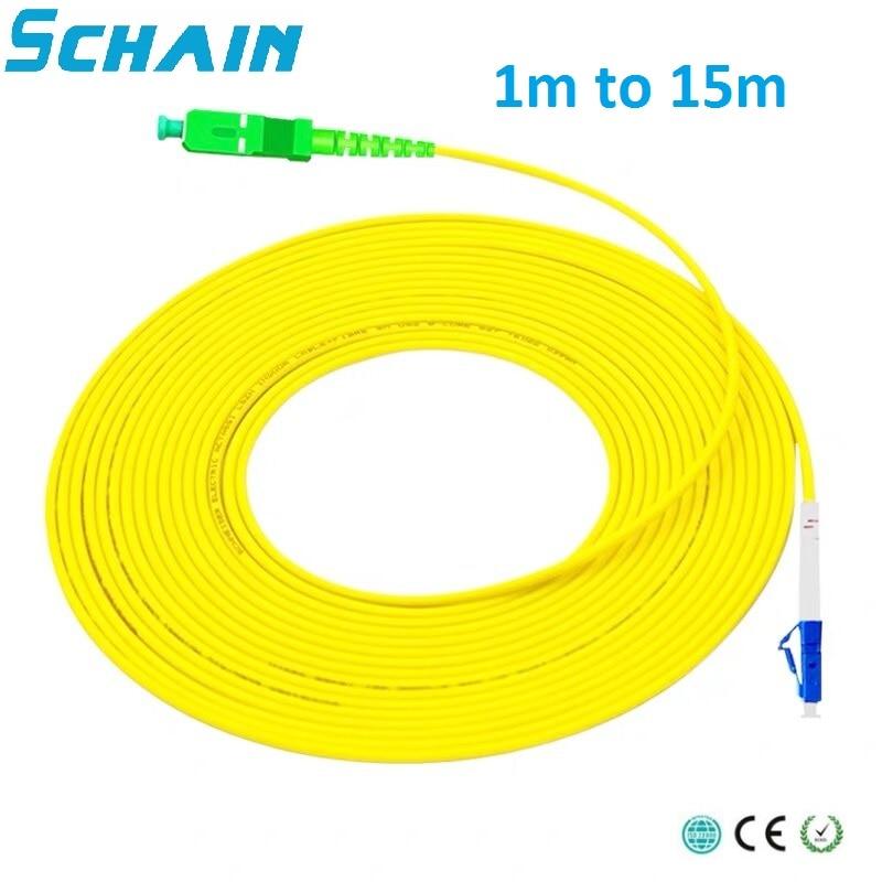 Fibra optica SC APC a LC UPC Simplex 2,0mm PVC, Cable de...