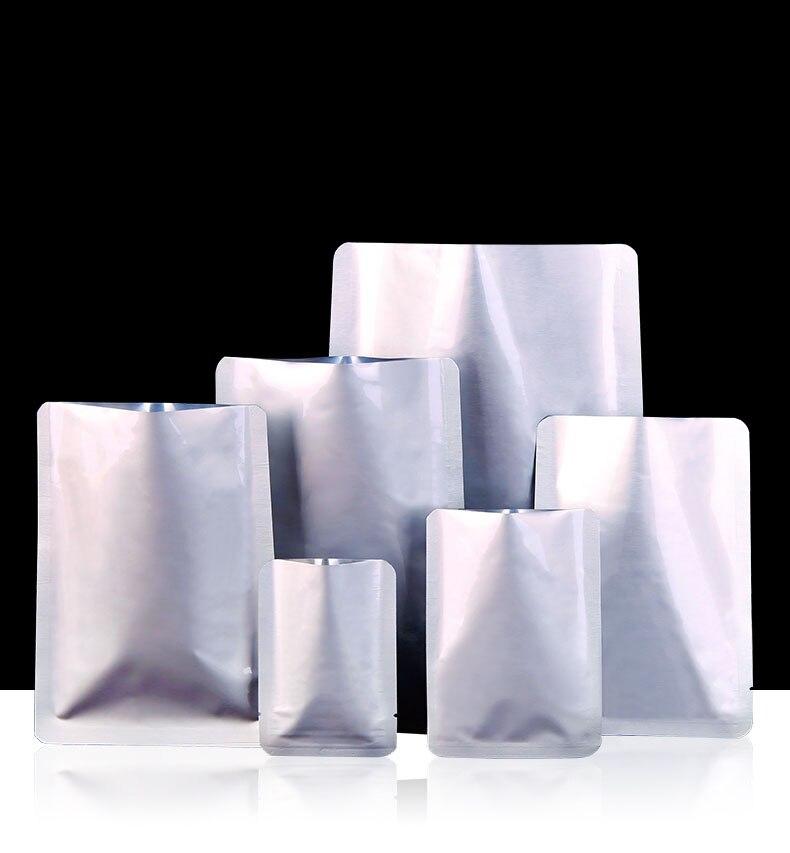 Плоский Вакуумный мешок из алюминиевой фольги, мешок для маски, мешок для еды, пластиковый пакетик из фольги для чая, упаковочный мешок для п...