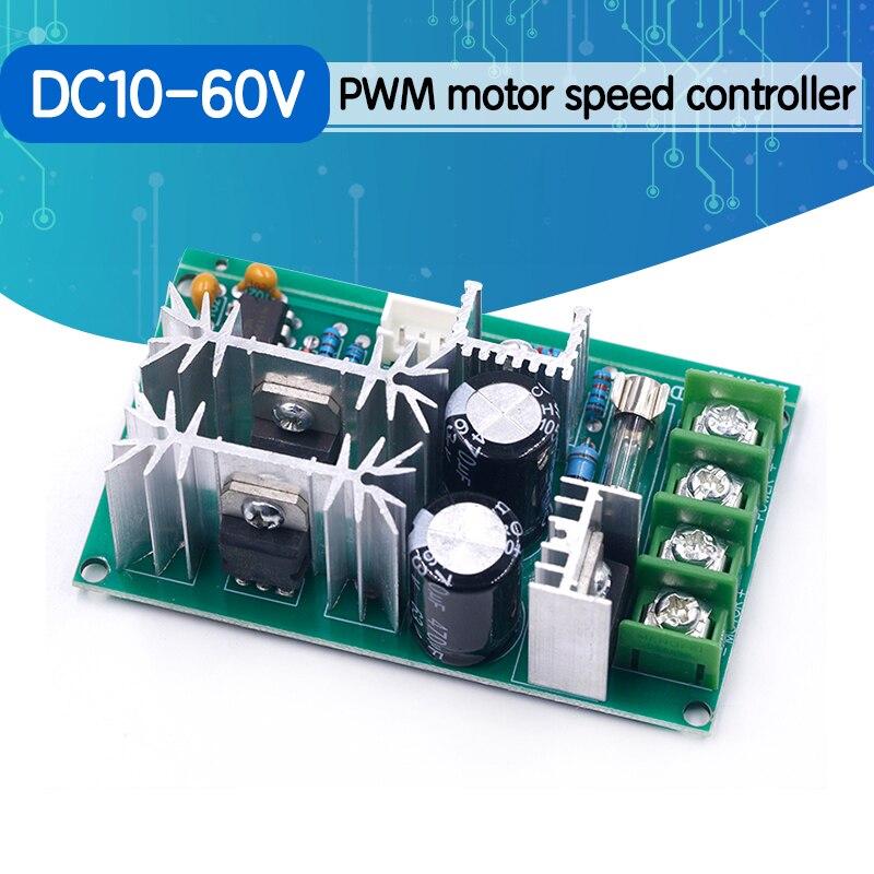 DC10-60V تيار مستمر 10-60 فولت سرعة المحرك التحكم PWM سرعة المحرك تحكم التبديل 20A الجهد الحالي منظم وحدة محرك عالية الطاقة
