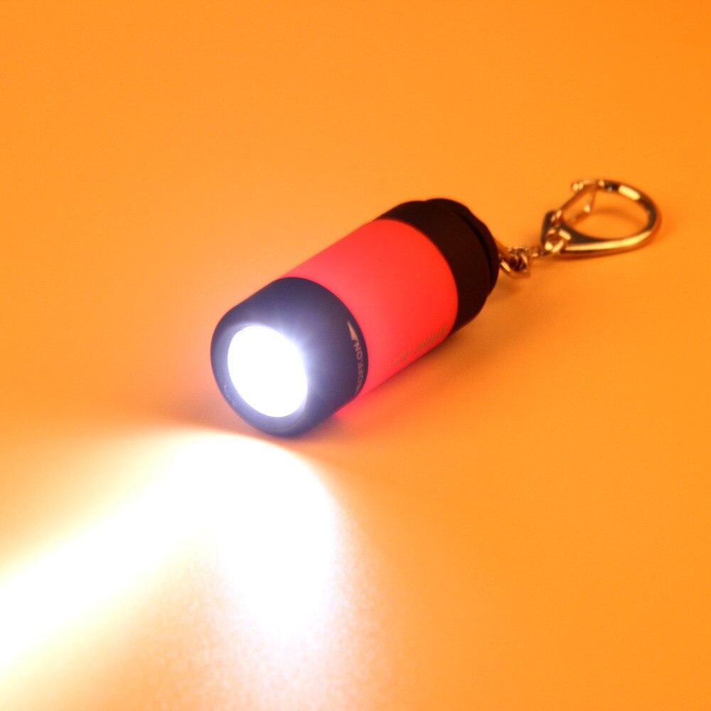 2020 novo Mini-Tocha 0.3W 25Lum USB Recarregável LED Torch Lamp Lanterna Chaveiro Portátil @ Q