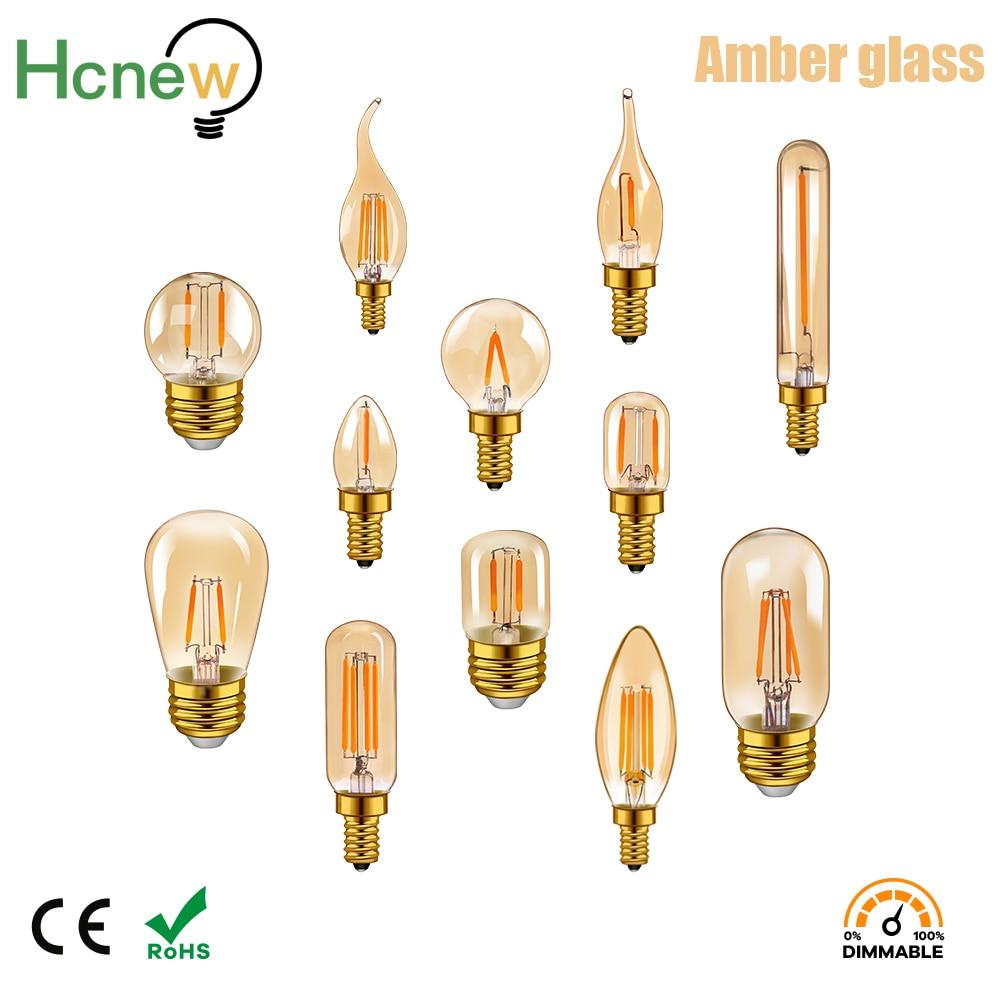 Светодиодсветильник винтажная лампа Эдисона E14, E27, 4 Вт, 2200 к, 220 В