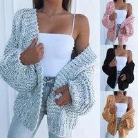 fashion women batwing sleeve cardigans autumn winter loose swearter cardigan ladies solid knitted coats outwear knitwear