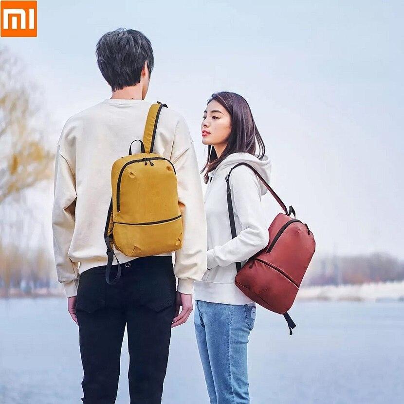 Youpin homem mulher ultraleve portátil mini náilon mochila 11l crossbody saco 7l à prova deasy água fácil de limpar casal pequena mochila