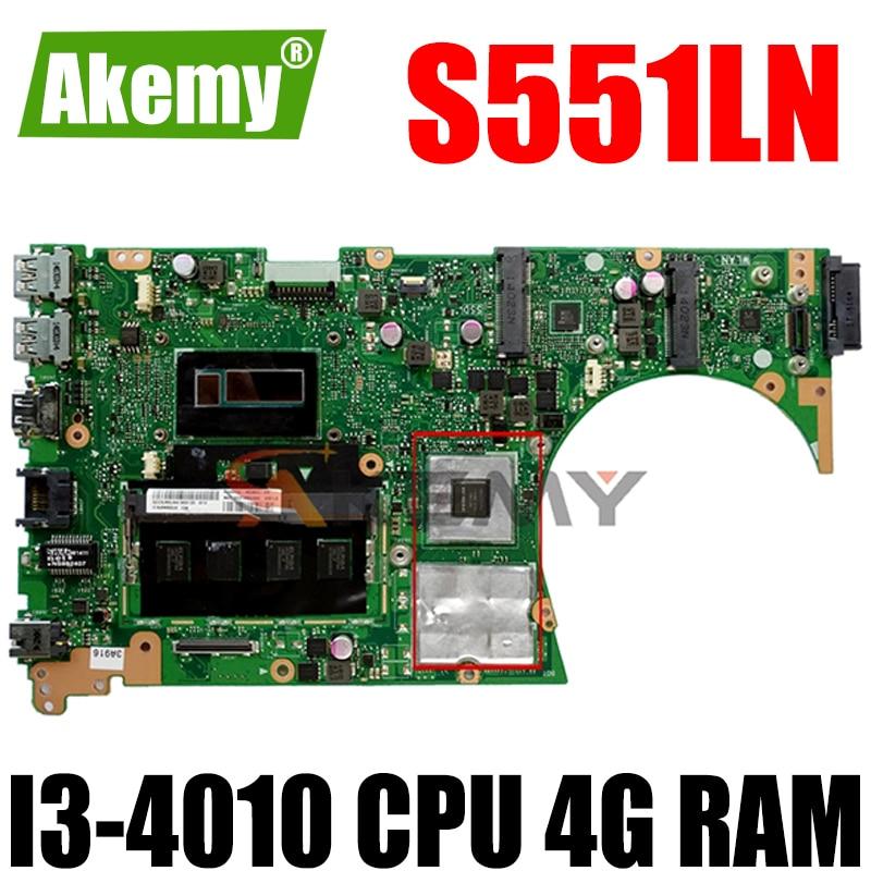 Akemy ل ASUS S551LN Laotop اللوحة الرئيسية S551 S551L S551LB S551LN R553L اللوحة مع GT840/V2G I3-4010 وحدة المعالجة المركزية 4G RAM