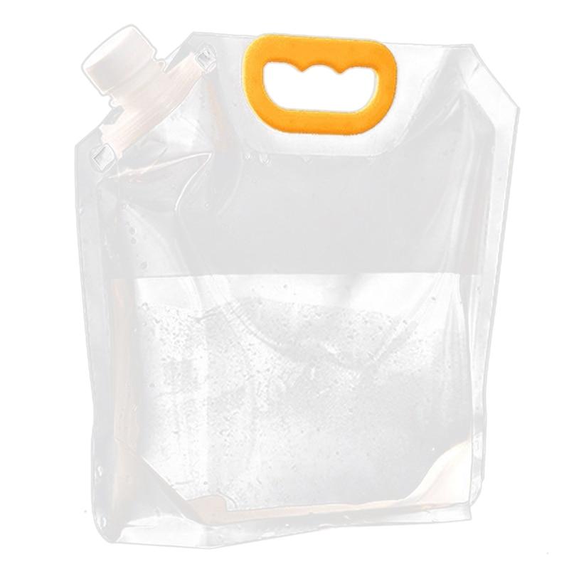 10x bolsas de embalaje de cerveza a granel PET líquido transparente + PA + PE bolsa de embalaje con boquilla bolsa con asa 2.5L