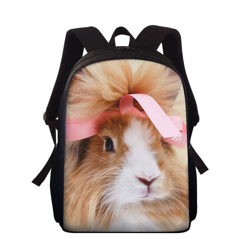 "15"" 2020 New 3D Animal Children Backpacks Bunny Design Girl Boys Backpack Toddler Kids School Bags Kindergarten Student Book Bag"