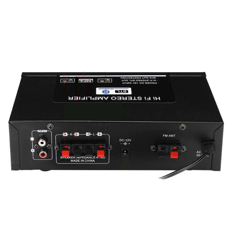 5,0 Bluetooth HIFI Amplificador de potencia de Audio Amplificador HiFi DC 12V/220V...