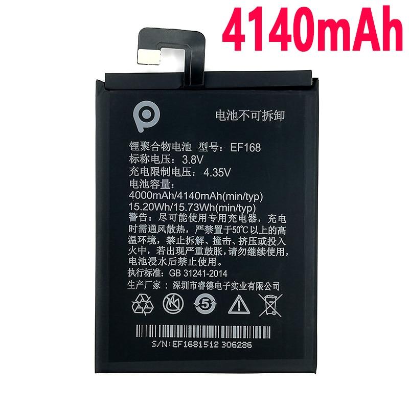 100% Original 4140mAh EF168 Batterie Für PPTV King7 King7S PP6000 Telefon Neueste Produktion Hohe Qualität Batterie + Tracking Nummer