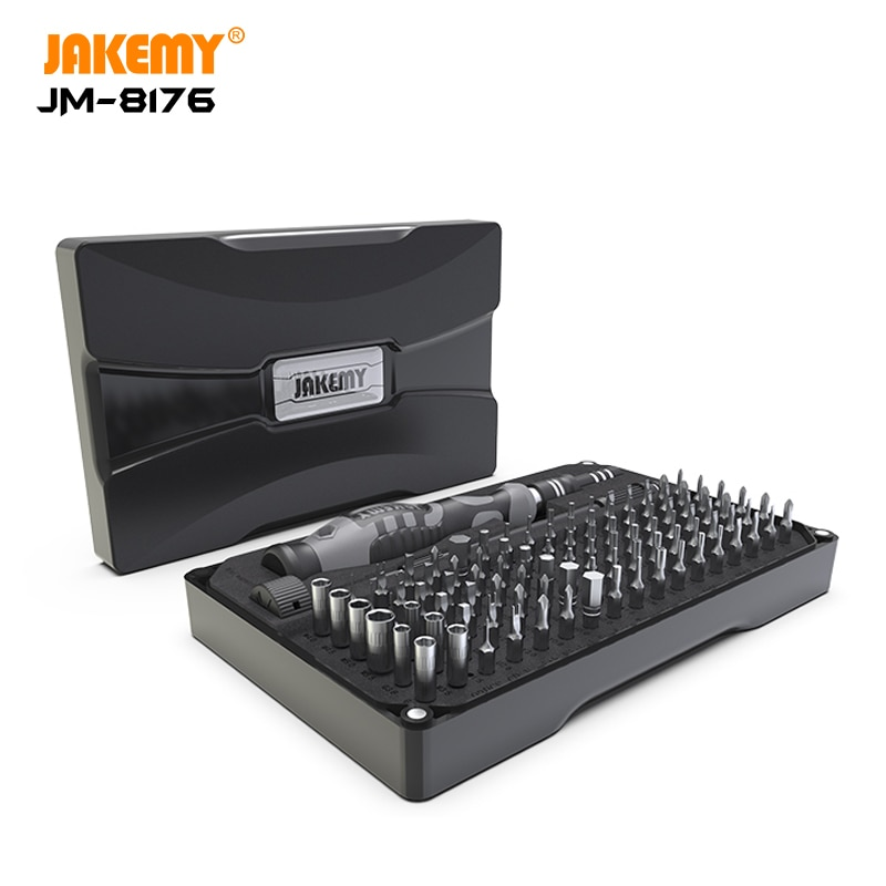 JAKEMY-مجموعة مفكات دقيقة 106 في 1 ، مجموعة أدوات إصلاح إلكترونية ، بت توركس مغناطيسي لأجهزة iPhone ، الكمبيوتر الشخصي