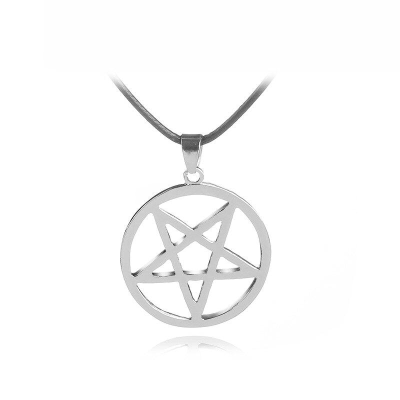 Ожерелье в виде Батлера из аниме, подвеска в виде пятиконечной звезды, светящийся, с логотипом сатаны, значок Сверхъестественное Амулет, юве...