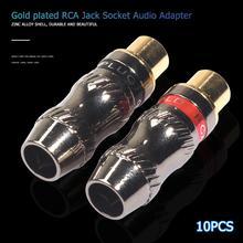 10 pièces RCA prise femelle soudure Audio vidéo adaptateur connecteur Jack câble convertisseurs plaqué or prise bonne Performance de Contact