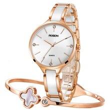 Women's Watches Luxury Brand ROSDN Japan Quartz Movement Sapphire Watch Lady 50M Waterproof Diamond 8 mm Ultra-thin Watch R3608