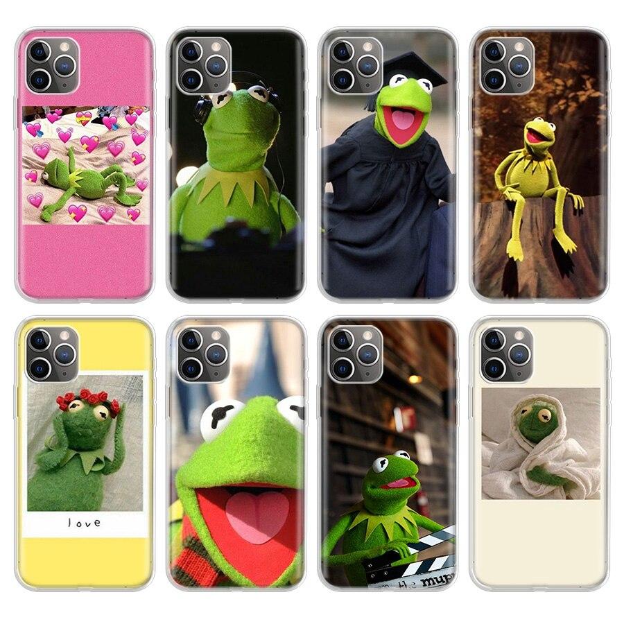 Чехол для телефона Kermit The Frog Meme для iphone SE 5 5S 6G 6Plus 7 8 8Plus 11 Pro X XS XR MAX, мягкий силиконовый чехол-накладка из ТПУ