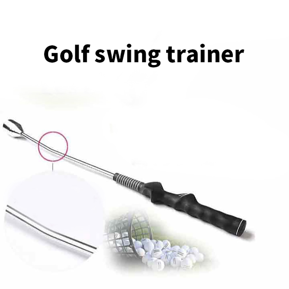 Golf Swing Stick Glove Holder Green Fork Weighted Ring Lead Sheet Corrector Accessories Set Ball Bag Support Strike Bag